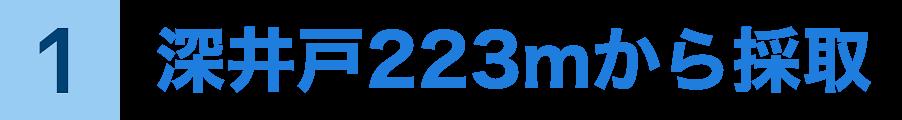 深井戸223mから採取